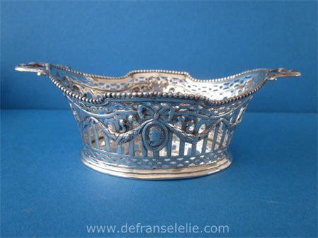 an antique German silver Louis Seize style bonbon dish