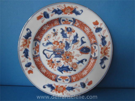 an antique Chinese imari porcelain plate
