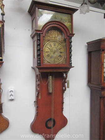 an antique Frisian wall clock staartklok