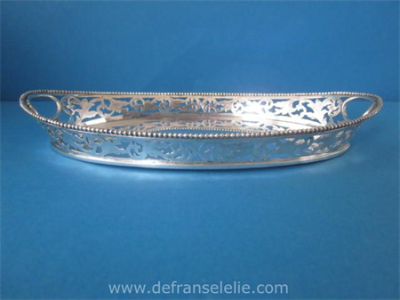a vintage Dutch silver boat shaped serving tray