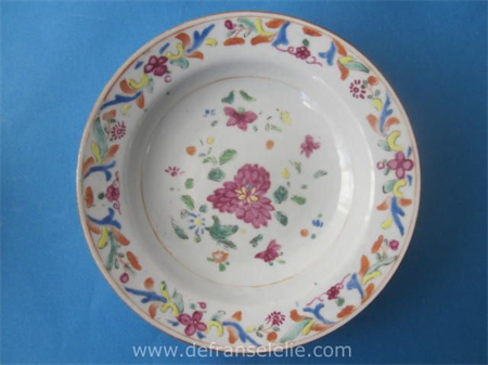an 18th century Chinese famille rose porcelain dish