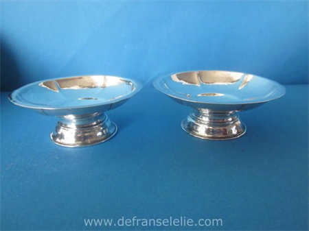 a pair of Dutch silver art deco salts