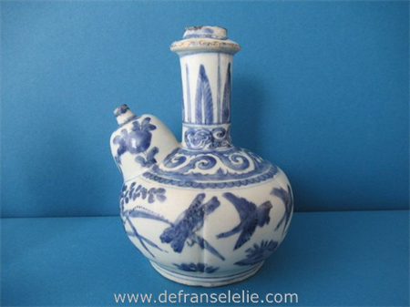 an antique Chinese blue and white porcelain kendi Wanli
