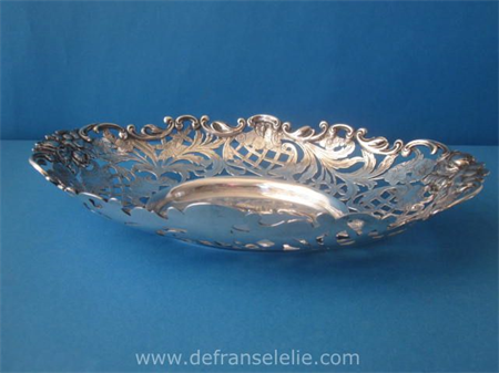 a large Dutch silver openworked bonbon dish