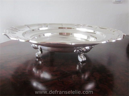 a very large antique German silver fruitbowl