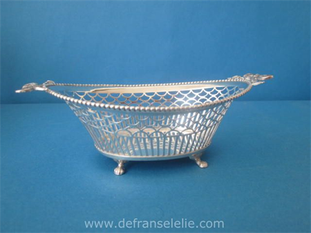 an antique Dutch silver Louis Style bonbon dish