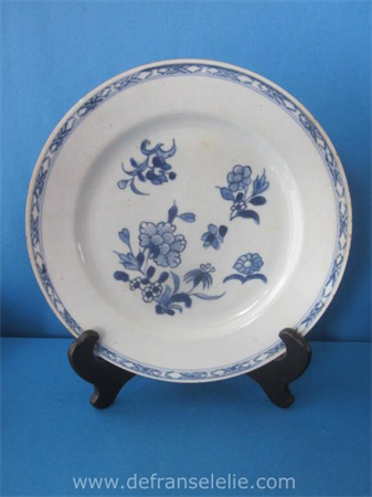 an antique Chinese blue and white porcelain plate