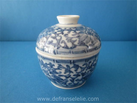 an antique Chinese porcelain Lotus jar with cover