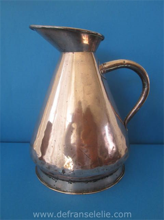 an antique Victorian copper harvest jug