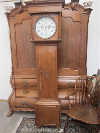 a 19th century English grandfather clock