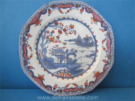 an 18th century Chinese imari porcelain plate