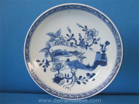an 18th century Chinese blue and white porcelain deep dish