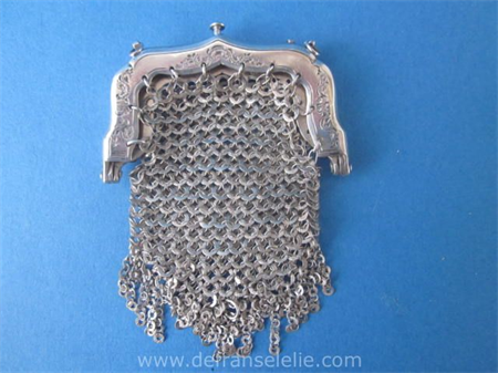 a small antique Dutch silver purse