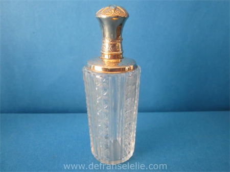 antique Dutch perfume bottle with golden top