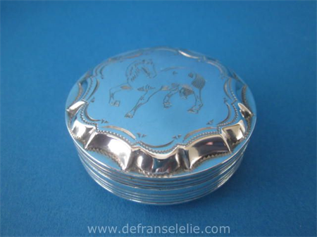 a vintage Dutch silver engraved peppermint box