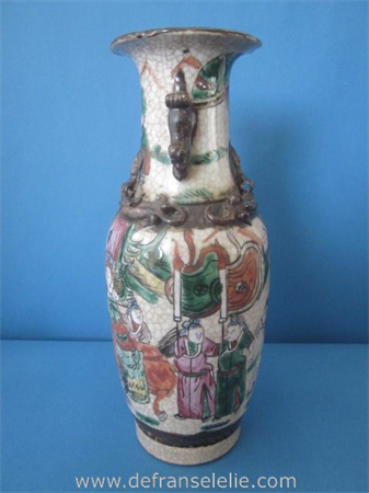 an antique Chinese Nanking porcelain vase