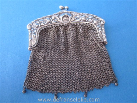an antique German silver purse