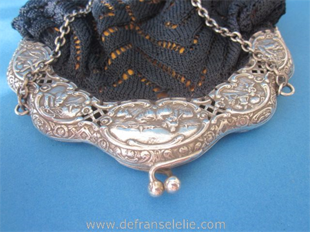 an antique Dutch silver purse Bijkamp