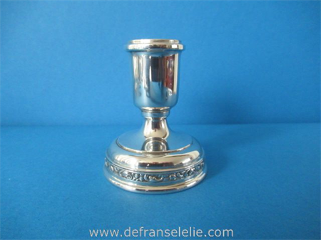 a vintage German silver weighted candlestick
