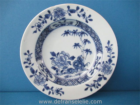 an antique Chinese blue and white porcelain dish