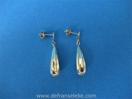 a pair of vintage Dutch 14ct gold earrings