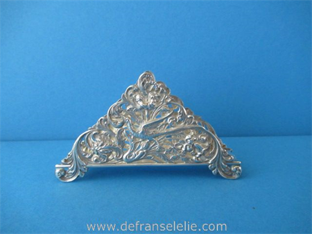 a vintage Dutch silver letter holder