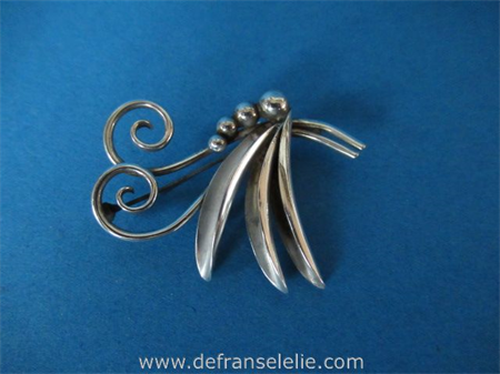 a vintage Danish design silver brooch