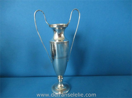 an antique sterling weighted silver vase