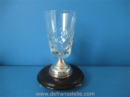 an antique silver mounted crystal beaker