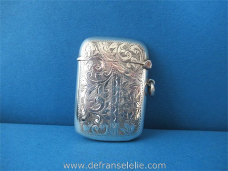 an antique sterling silver vesta case Rolason Brothers