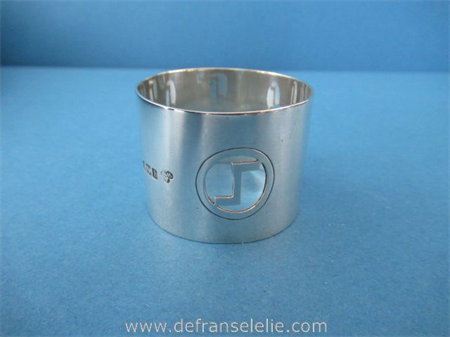 an antique sterling silver napkin ring