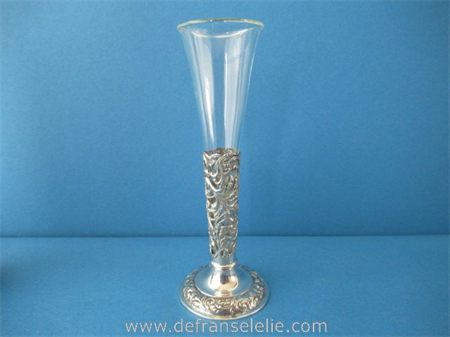 a vintage Dutch silver glass vase