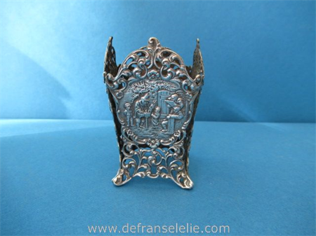 a vintage Dutch silver bottle holder