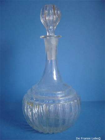 an 19th century glass carafe