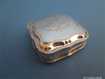 an antique Dutch silver engraved peppermint box