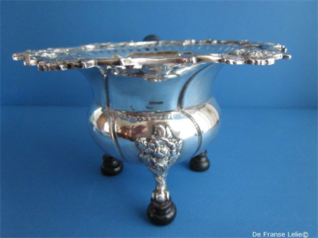 a fine Dutch copper and silver chafing dish