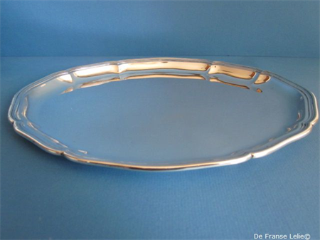 a small Dutch silver serving tray