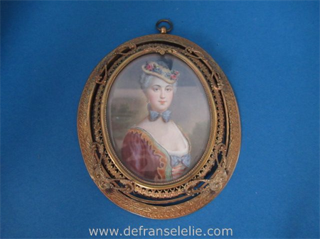 a fine antique miniature painting on paper