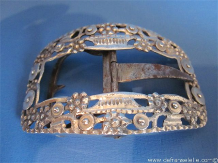 an antique Dutch silver buckle