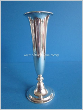 an antique Dutch silver rose vase