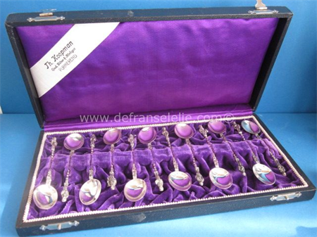 a set of twelve Dutch silver teaspoons