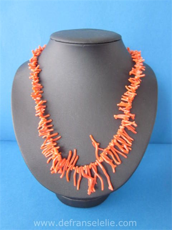 a vintage red coral necklace