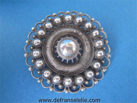 a vintage Dutch silver brooch